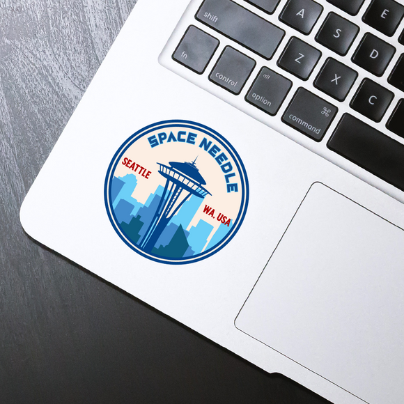 Space Needle circle sticker - 3