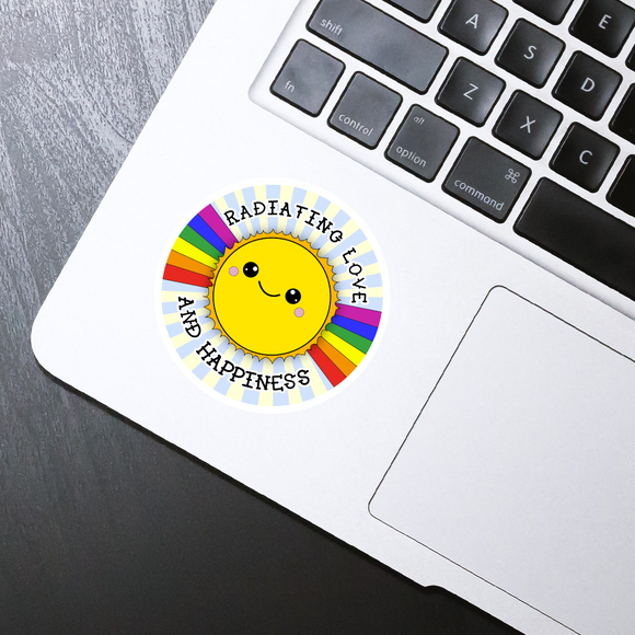 Radiating love die cut sticker - 3