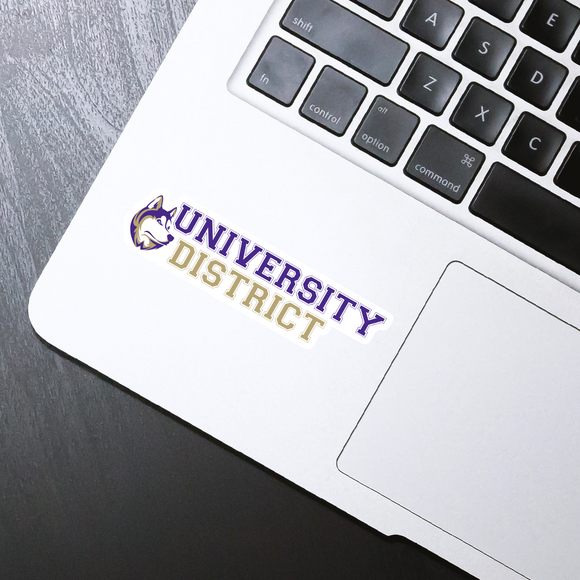 University District die cut sticker - 4