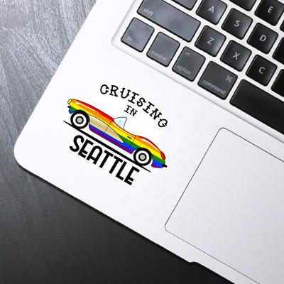 Cruising in Seattle Sticker - HackStickers