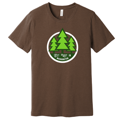 T-shirt - Get lost in Washington - HackStickers