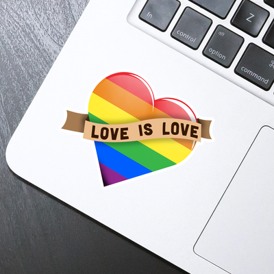Love is Love Heart Sticker - HackStickers