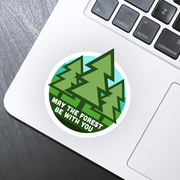 May the Forest Be With You Sticker - HackStickers