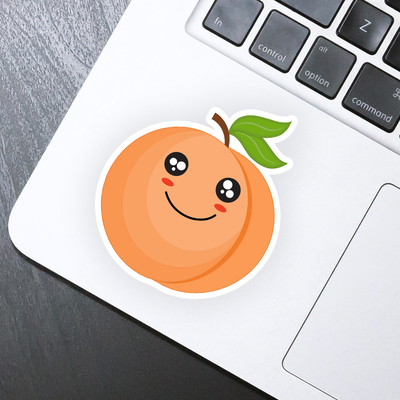 Peach Emoji Sticker - HackStickers