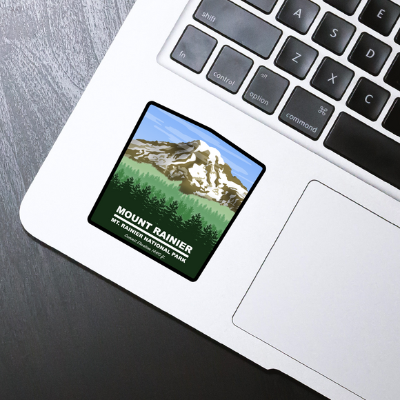 Mt. Rainier die cut sticker - 3