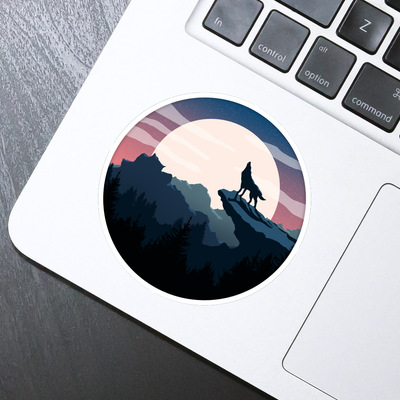 Howling Wolf Sticker - HackStickers
