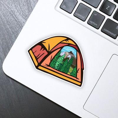 Camping Tent Sticker - HackStickers