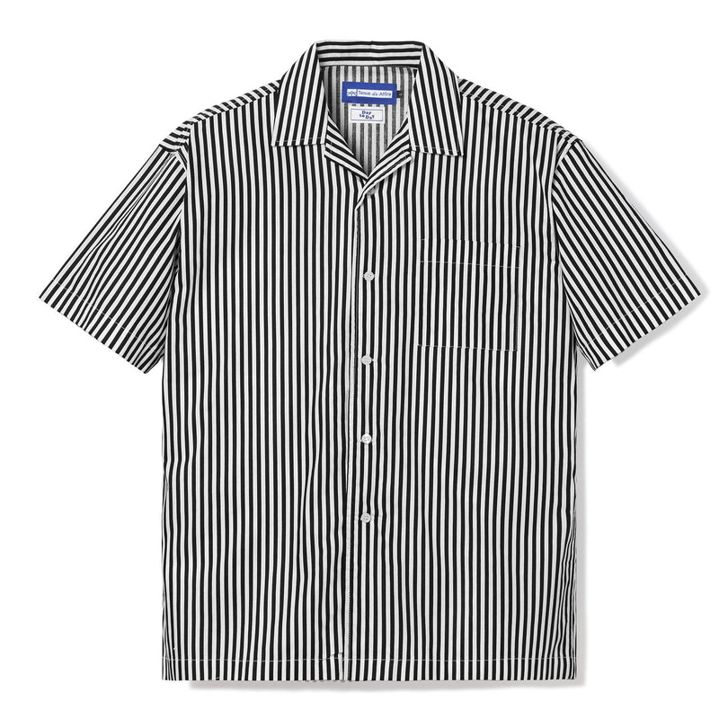 Peinture Stripes Short Sleeve Black Shirt