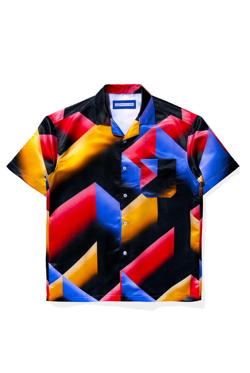 Labyrinthe en Technicolor Blue Shirt