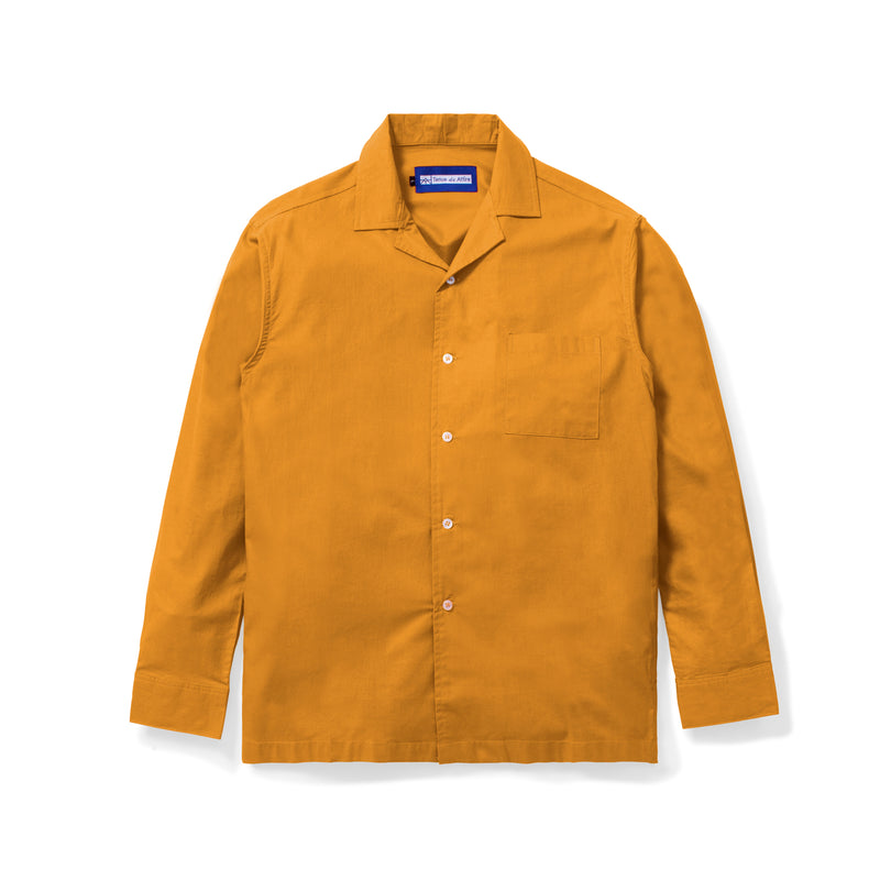 Lyon Plain Mustard Shirt Long Sleeve