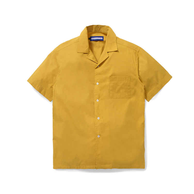 Lyon Plain Mustard Shirt Short Sleeve