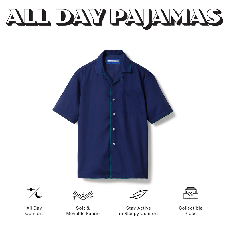 All Day Pajamas Blue Short Sleeves