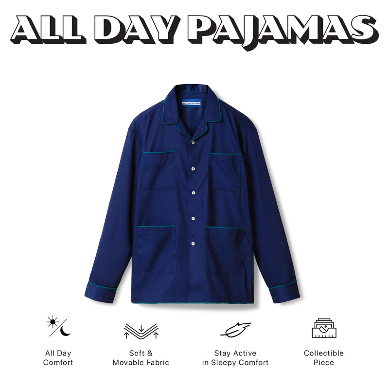 All Day Pajamas Blue Long Sleeves