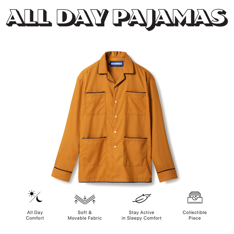 All Day Pajamas Mustard Long Sleeves