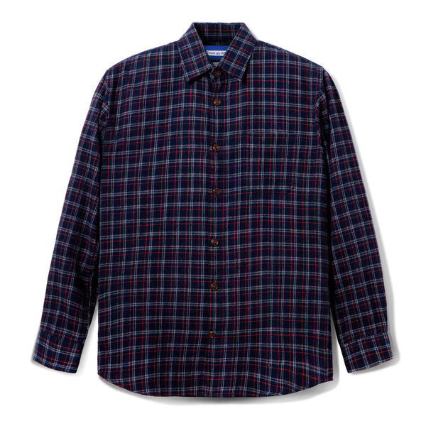 Bilbao Flannel Long Sleeve Shirt Navy Red Line