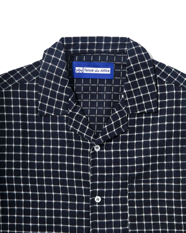 Merci Flannel White Box Navy Long Sleeve Shirt