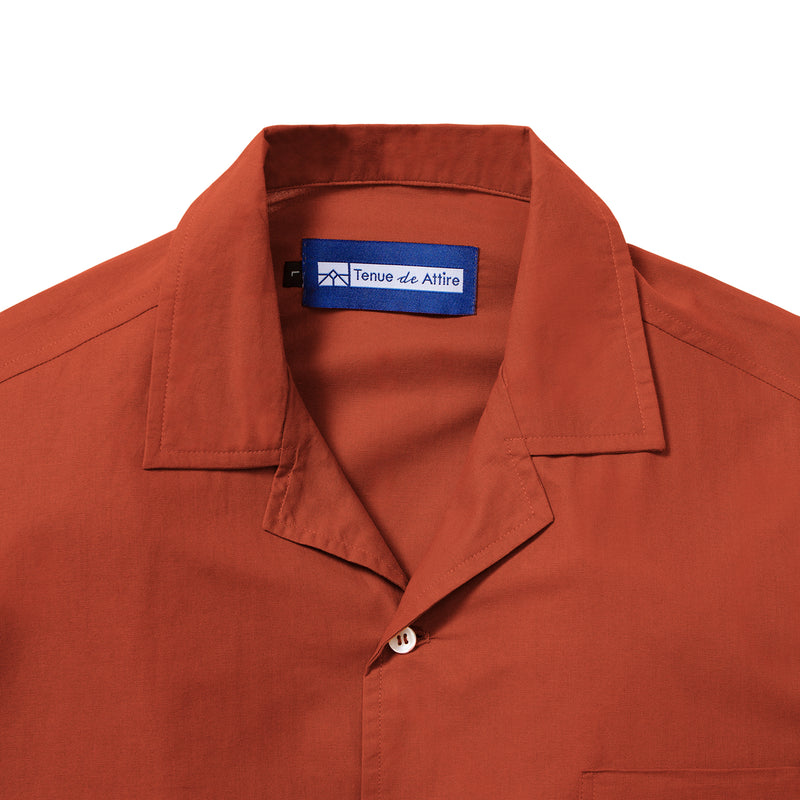 Lyon Plain Red Shirt Short Sleeve