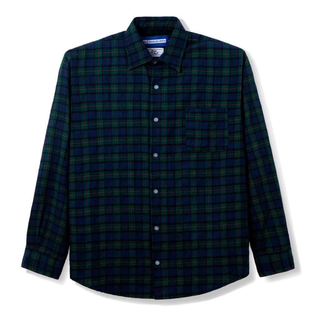 All Day Flannel Green Blue