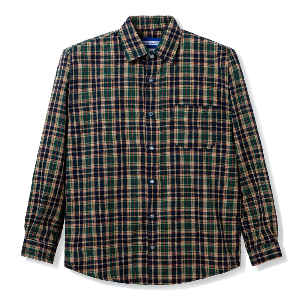 All Day Flannel Green Navy