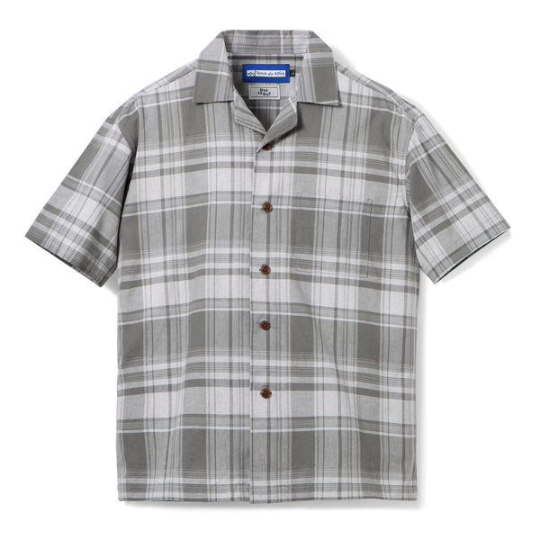 Gaudi Madras Short Sleeve Grey Square Shirt