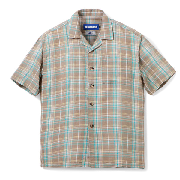 Gaudi Madras Short Sleeve Brown Olive