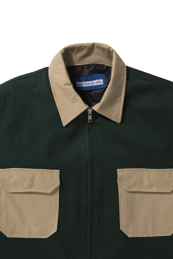 Veste Colorée Green Navy Jacket