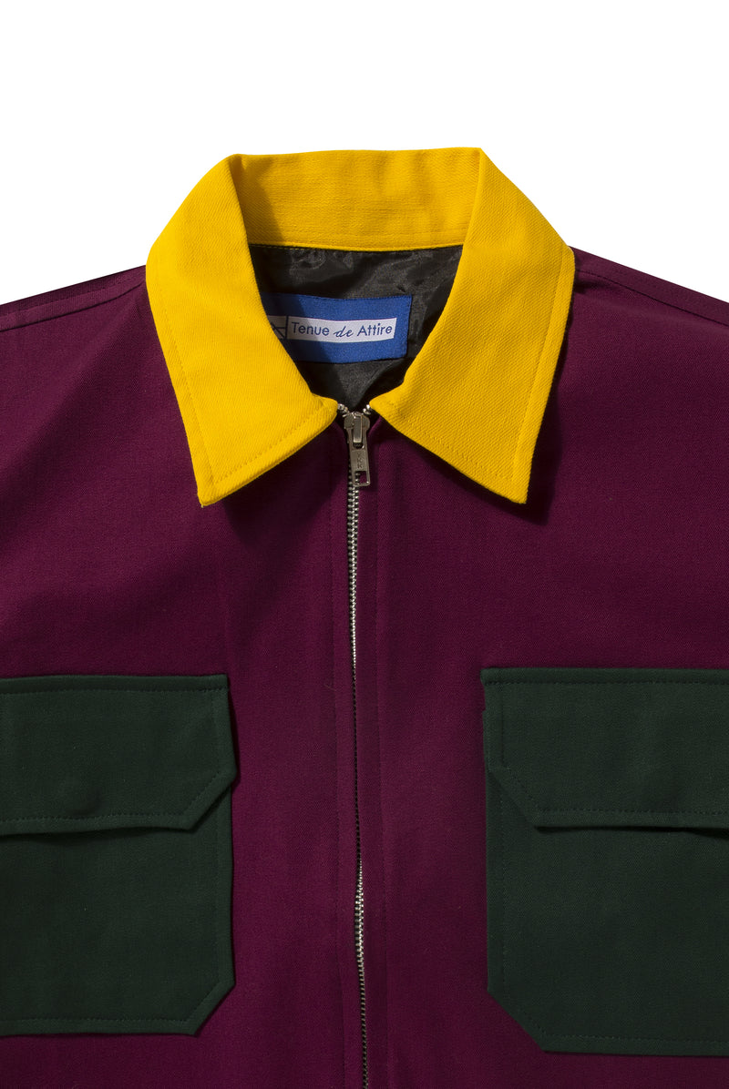 Veste Colorée Purple Yellow Jacket