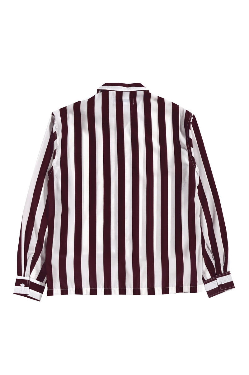 Les Rayures Burgundy Bowling Long Sleeve - Tenue de Attire