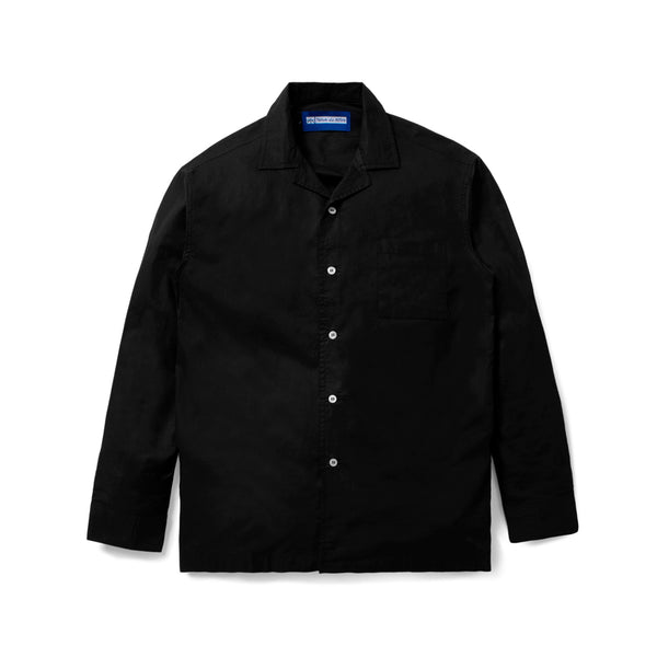 Lyon Plain Black Shirt Long Sleeve