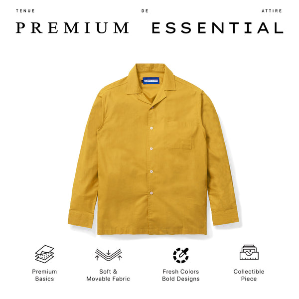 Lyon Plain Yellow Shirt Long Sleeve