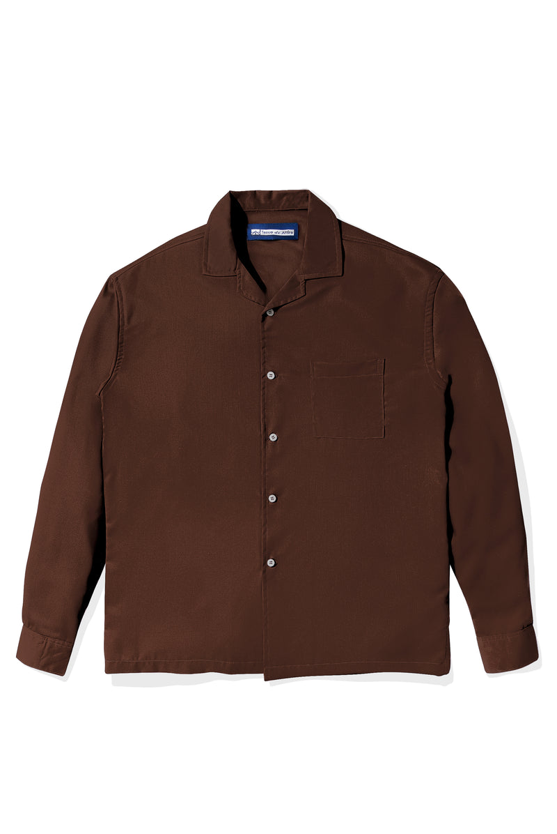 Chemise Colorée Brown Shirt Long Sleeve
