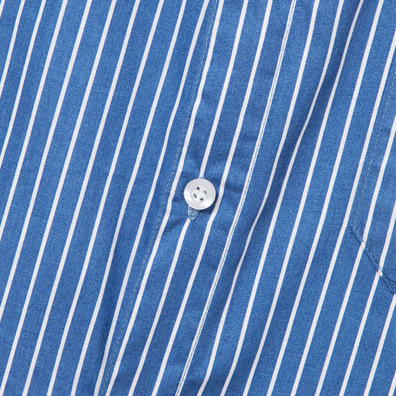 Bofill Stripes Long Sleeve Blue White Shirt
