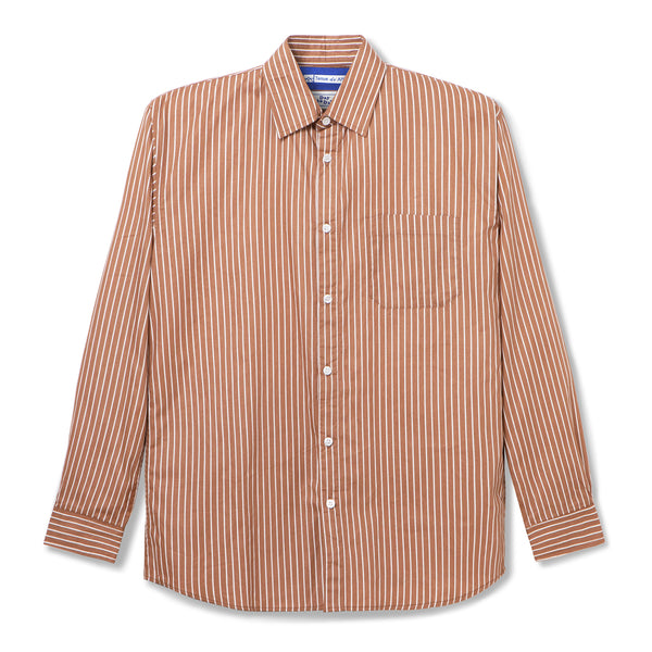 Bofill Stripes Long Sleeve Brown White Shirt