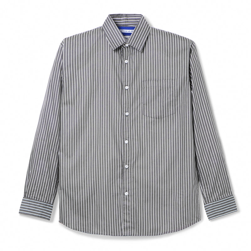 Bofill Stripes Long Sleeve Grey White Shirt