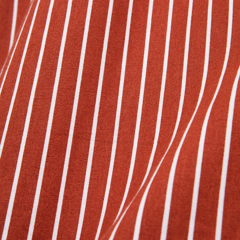 Bofill Stripes Long Sleeve Maroon White Shirt