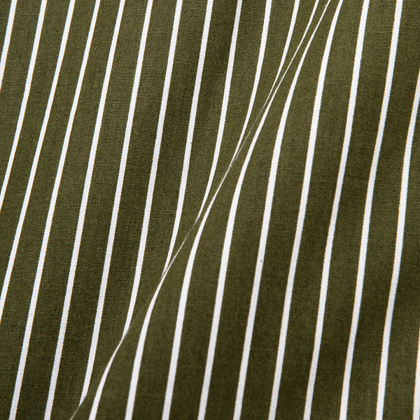 Bofill Stripes Long Sleeve Olive White Shirt