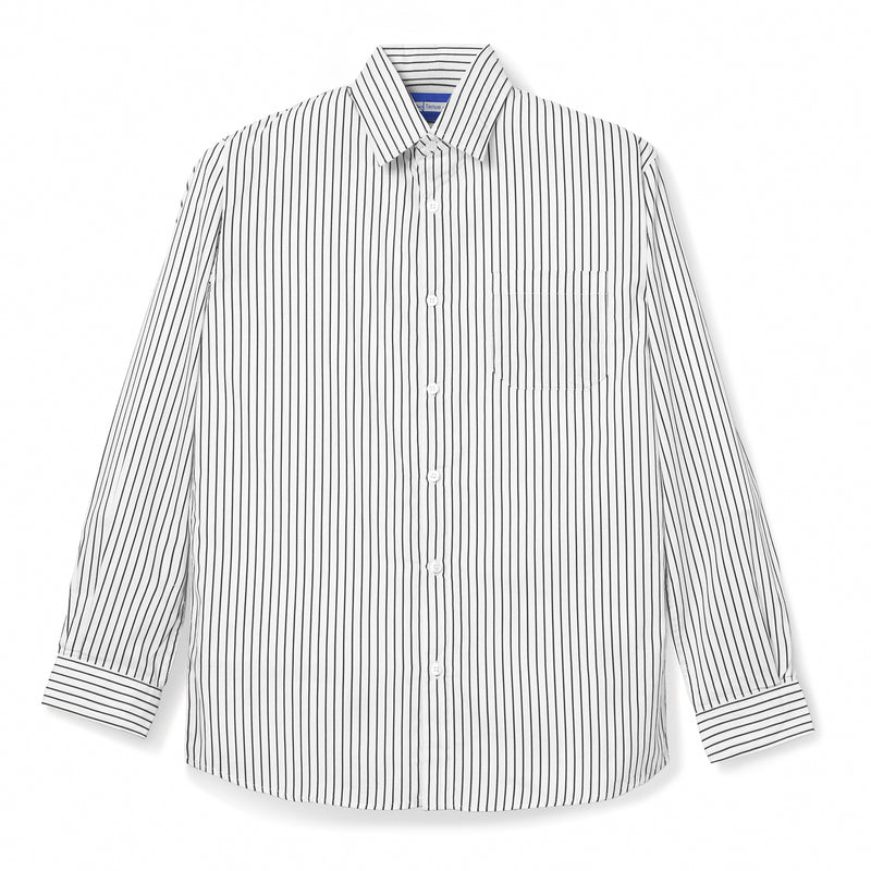 Bofill Stripes Long Sleeve White Black Shirt