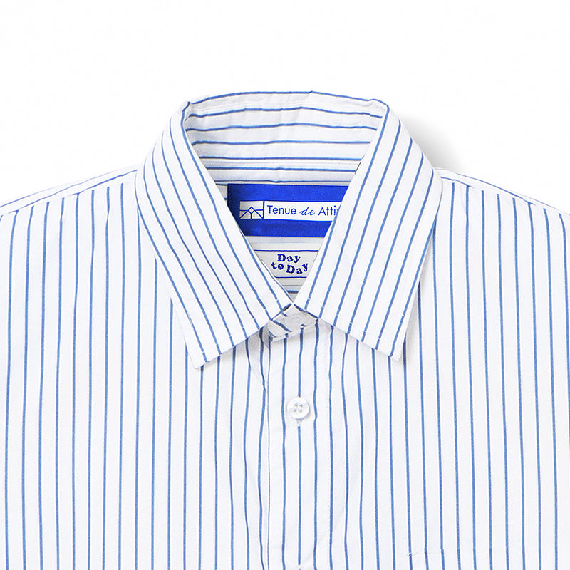 Bofill Stripes Long Sleeve White Blue
