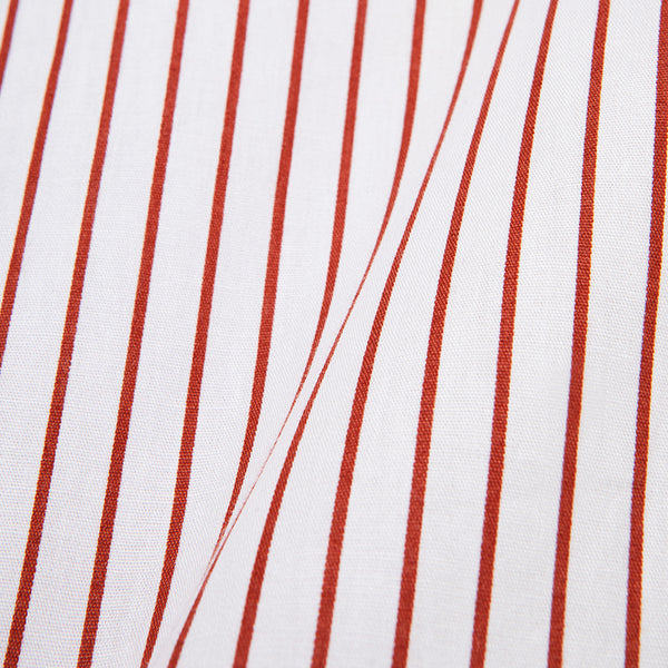 Bofill Stripes Long Sleeve White Maroon Shirt