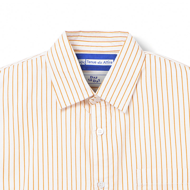 Bofill Stripes Long Sleeve White Mustard Shirt