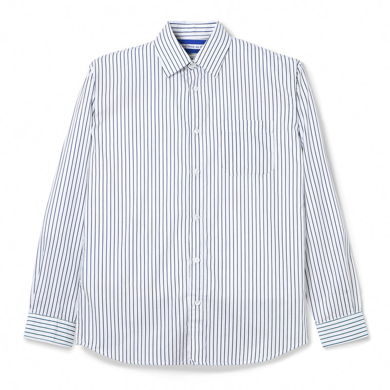 Bofill Stripes Long Sleeve White Navy Shirt