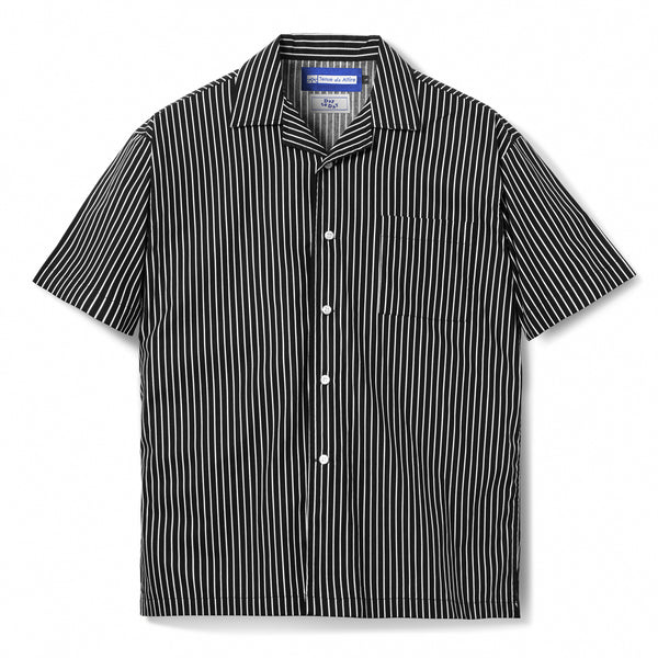 Bofill Stripes Short Sleeve Black White Shirt