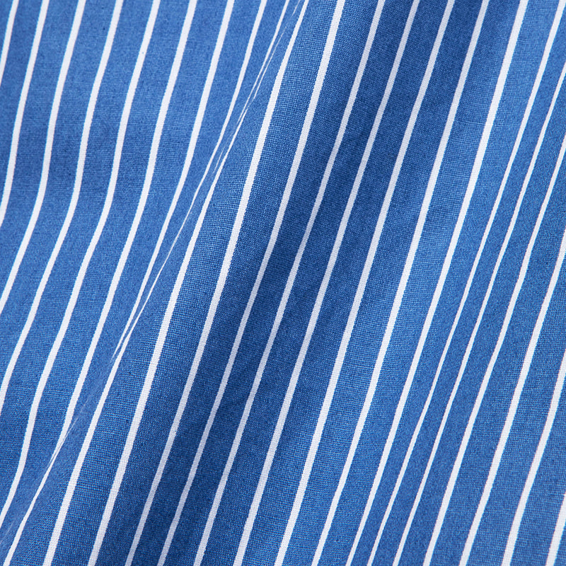 Bofill Stripes Short Sleeve Blue White Shirt