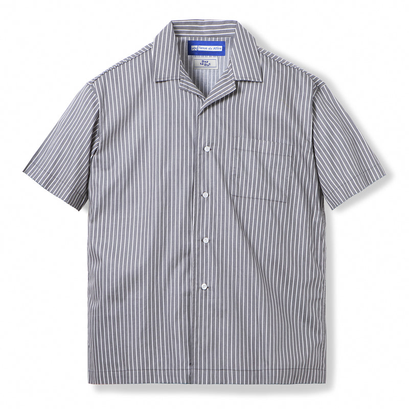 Bofill Stripes Short Sleeve Grey White Shirt