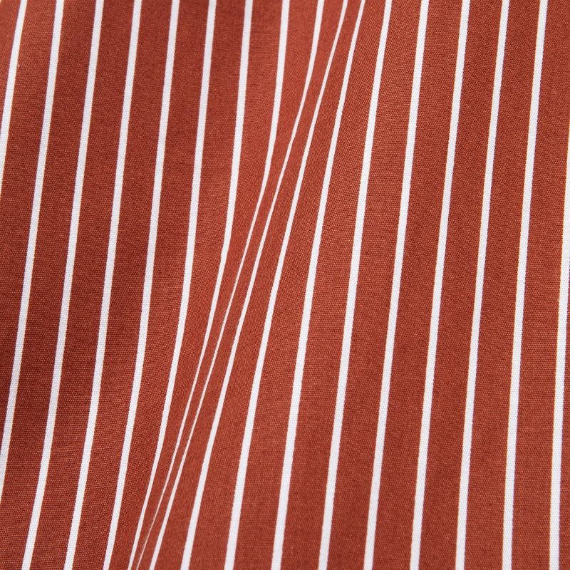 Bofill Stripes Short Sleeve Maroon White Shirt