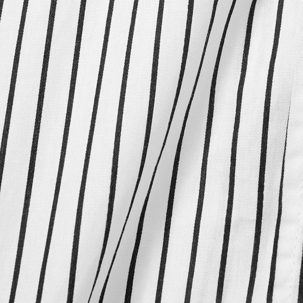 Bofill Stripes Short Sleeve White Black Shirt