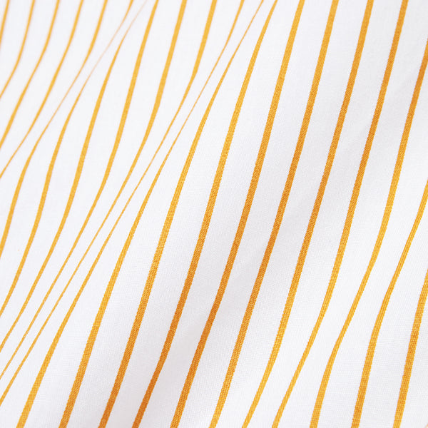 Bofill Stripes Short Sleeve White Mustard Shirt
