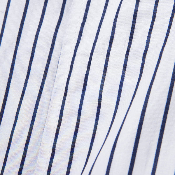 Bofill Stripes Short Sleeve White Navy Shirt