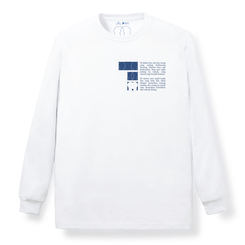 Dialog Long Sleeves White T Shirt