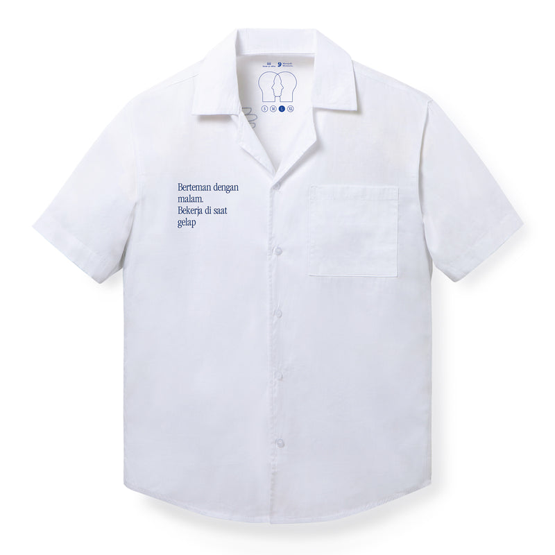Lembur Short Sleeves White Shirt